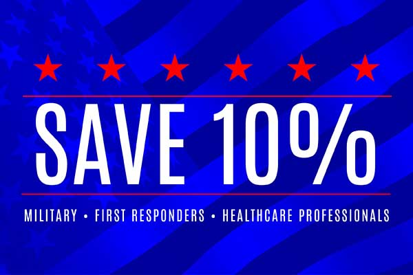 Military, First Responders, and Healthcare Professionals save 10% - Only at Williams Floorcenter in Orange City, Florida. See store for details